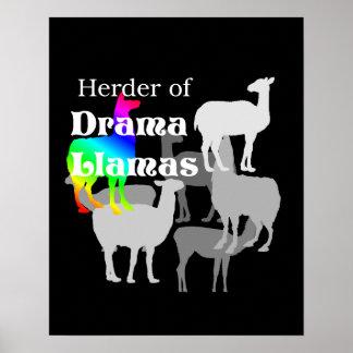 Poster do pastor do lama do drama