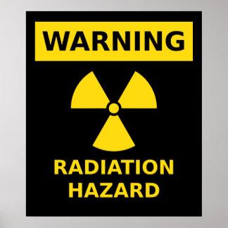 Poster do perigo de radiação
