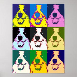 Poster do pop art de border collie