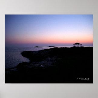 Poster do por do sol da ilha da estrela