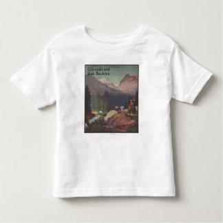 Poster do promocional da estrada de ferro de t-shirt