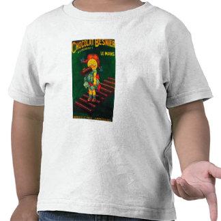 Poster do promocional do chocolate de Besnier T-shirts