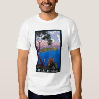Poster do promocional do viagem de Garda do lago Camisetas