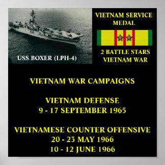 POSTER DO PUGILISTA DE USS (LPH-4)
