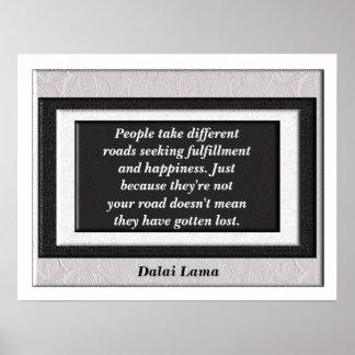 Poster do _Quote de Dalai Lama Pôster