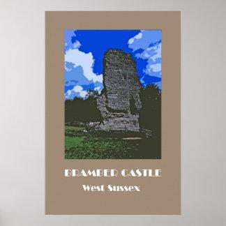 Poster do retro-estilo dos anos 20 do castelo de