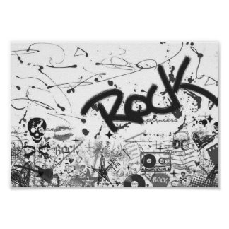 Poster do rock and roll pôster
