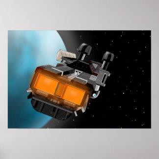 Poster do Scifi da nave espacial Pôster