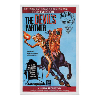 """""""Poster do sócio do diabo"""" Poster"""