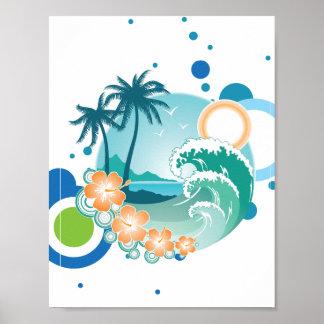 Poster do surf da ilha