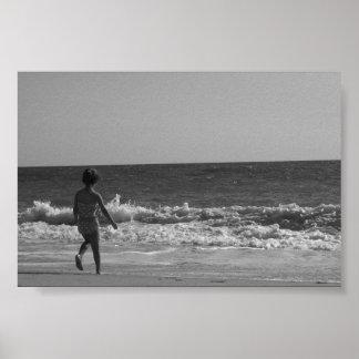 Poster doce da cena da praia….