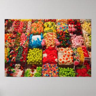 Poster doce da loja dos doces coloridos