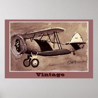 Poster dos aviões do vintage pôster