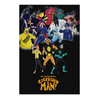 Poster dos bandidos do homem da barata