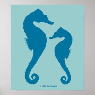 Poster dos cavalos marinhos