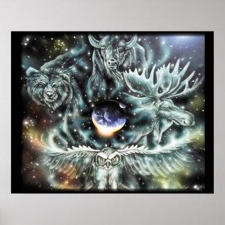 Poster dos espírito animais