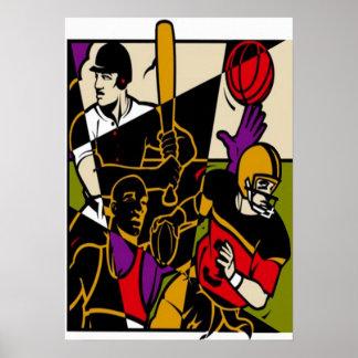 Poster dos esportes pôster