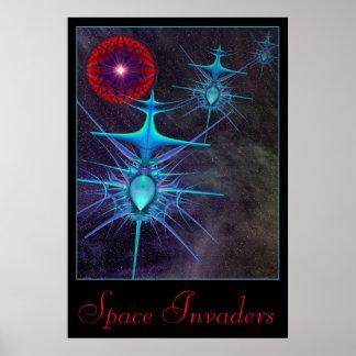 Poster dos invasores 2 do espaço pôster