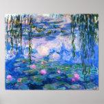 Poster dos lírios de água de Monet