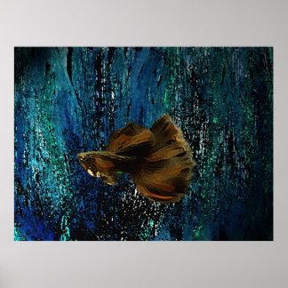 Poster dos peixes de Brown para a decoração interi Pôster