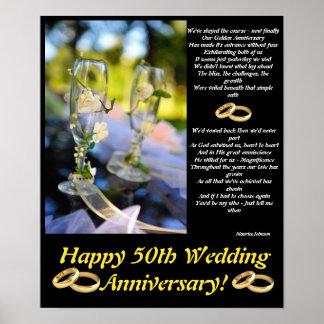 Poster dourado do aniversário pôster