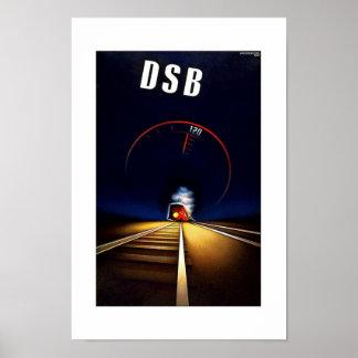 Poster DSB das viagens vintage