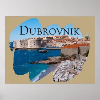 Póster Dubrovnik com uma vista