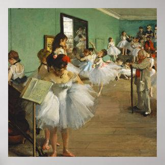 Poster Edgar Degas a classe de dança