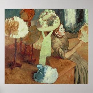 Poster Edgar Degas | a loja do Millinery, 1879/86