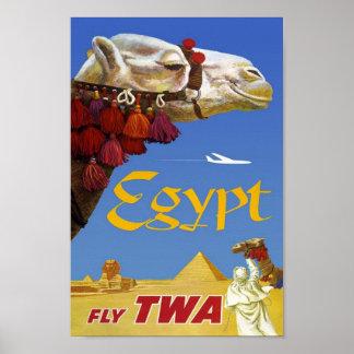 Poster Egipto das viagens vintage