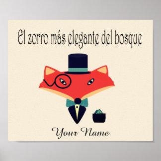 Poster elegante da língua espanhola do Fox