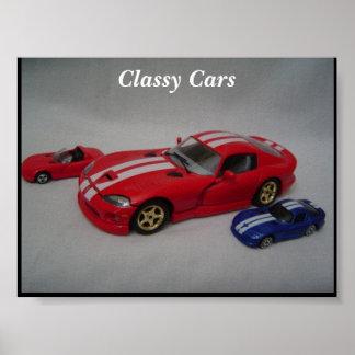Poster elegante dos carros