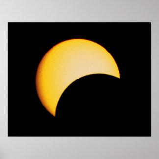 Poster Em agosto de 2017 eclipse solar