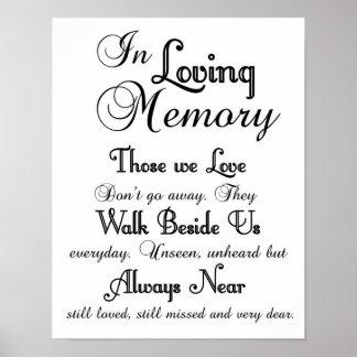 Poster Em sinal Loving do casamento da memória