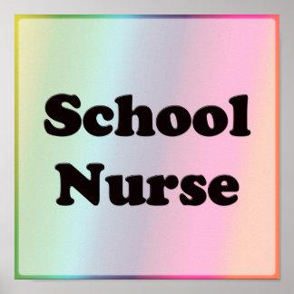 Póster Enfermeira da escola