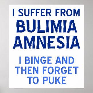 Poster engraçado da amnésia da bulimia