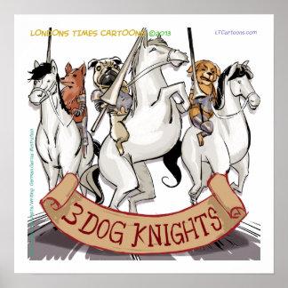 Poster engraçado da cavalaria do cão