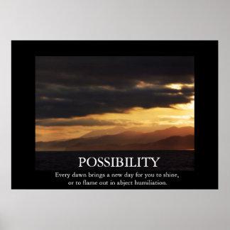 Poster engraçado da De-motivação da possibilidade