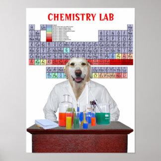 Poster engraçado da química do laboratório para