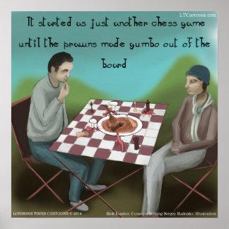 Poster engraçado da xadrez de Cajun