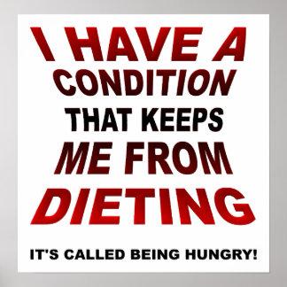 Poster engraçado de dieta da circunstância