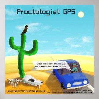 Poster engraçado de GPS do Proctology