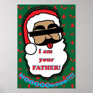 Poster engraçado de Papai Noel