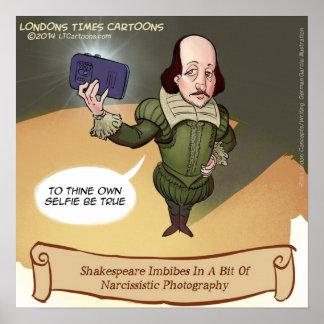 Poster engraçado de Shakespeare Selfie