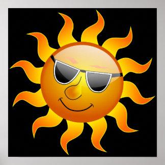 Poster engraçado de Sun do verão