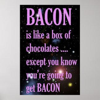 Poster engraçado do bacon