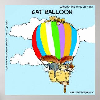 Poster engraçado do balão do gato