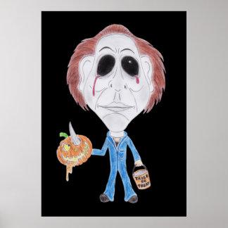Poster engraçado do desenho da caricatura do filme