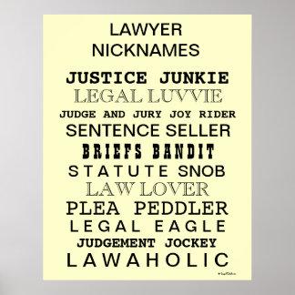 Poster engraçado do escritório dos apelidos e dos