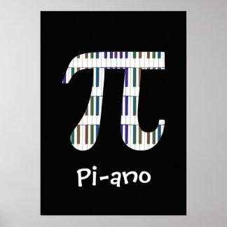 Poster engraçado do geek da música da matemática
